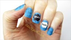 The Fault In Our Stars Nail Art<<< I could never do this, but it's so cool!