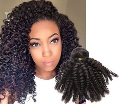 Fashion 3Bundles 300g Natural Black Afro Brazilian Kniky Curly Haar Full Head #WIGISS #HairExtension