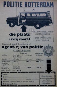 Politie Rotterdam - advertentie