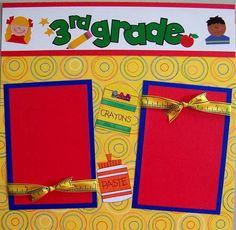 3rd Grade School Premade Scrapbook Pages | eBay