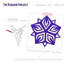 Omiyage Blogs: The Kirigami Project - Week 38 - Starburst / 5 point folding pattern