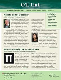 OT Link Summer 2013 Issue! #WUSTLOT #WUSTL #Occupationaltherapy #healthcare #careers
