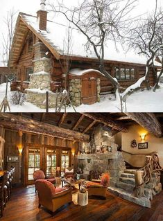 Chalet design and alpine design. modern country house - Marianne Sommerfeld - Information about chalet design and alpine design. Modern chalet inspirat Chalet design and alpine design Log Cabin Living, Small Log Cabin, Log Cabin Kits, Log Cabin Homes, Log Cabins, Log Cabin Plans, Log Home Plans, Chalet Design, House Design