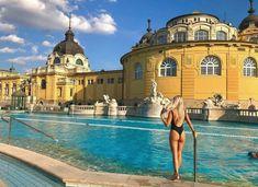 Szechenyi Thermal Baths, Budapest Thermal Baths, Hungary, Budapest, Taj Mahal, Mansions, House Styles, Building, Travel, Home Decor
