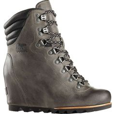 Sorel Women's Conquest Wedge Boot (17.930 RUB) ❤ liked on Polyvore featuring shoes, boots, waterproof shoes, water proof boots, sorel boots, waterproof footwear and sorel