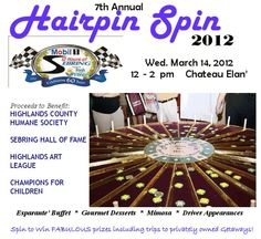 Hairpin Spin 2012  a casino themed charity luncheon kicking off the 60th Annual Mobil 1 Twelve Hours of Sebring presented by Fresh from Florida