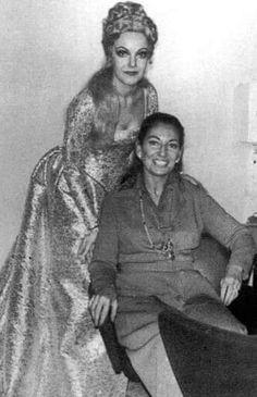 Raina Kabaivanska con Maria Callas Torino 1973