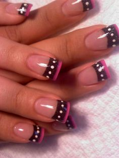 double french tips with dots