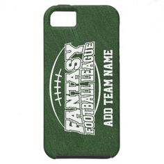 Fantasy Football - Your Team Logo iPhone 5 Cases. Add Team Name Here. #college#sports