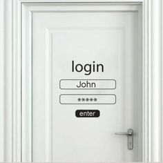 Login And Password #Sticker