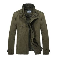 Mens Olive Green Jacket, Army Green Bomber Jacket, Green Parka, Green Leather Jackets, Khaki Jacket, Anorak Jacket, Cotton Jacket, Jacket Style, Army Clothes
