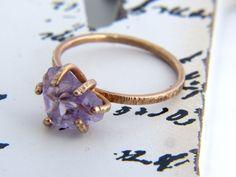 Raw Amethyst Ring