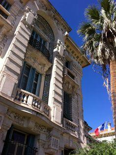 Photo of the beautiful Lycée Massena in Nice (highschool), Côte d'Azur, France