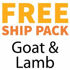 Complete Goat & Lamb Free Ship Pack, 16 lbs lbs