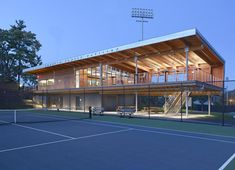 Cordish Family Pavilion, Princeton University Tennis Center by Dattner Architects in Princeton, NJ, United States Pavilion Design, Pavilion Architecture, Architecture Design, Clubhouse Design, Indoor Tennis, Beach Tennis, Sport Tennis, University Architecture, Ville New York