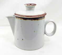 Dansk Brown Mist Creamer With Lid Small Pitcher #Dansk