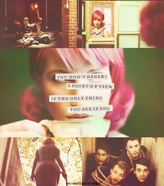 You don't deserve a point of view, if the only thing you see is you -Playing God, Paramore