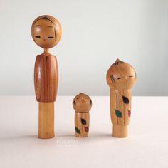 Famille de poupées en bois - Sosaku