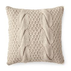 Alicia Adams Chunky Knit Pillow Cover - Ivory | Serena & Lily