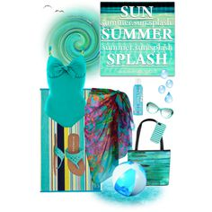 """summer.sun.splash"" by mchankins on Polyvore"