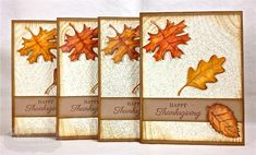 Happy Thanksgiving Card Set by Shannon White #Cardmaking, #Thanksgiving, #Fall