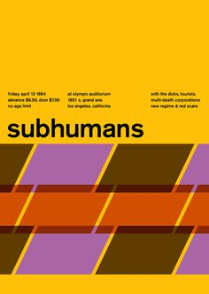 Subhumans in Swiss Style Posters by Mike Joyce