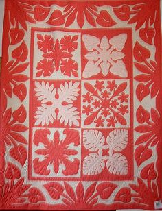 Hawaiian quilt, Honaunau 2012, photo by Deb for Quilt Inspiration