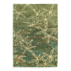 Shaw Impressions Collection Dancing Stems Sage Rectangle Rugs - Bed Bath & Beyond