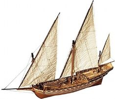 Ship Model Occre - Cazador - Spanish Xebec