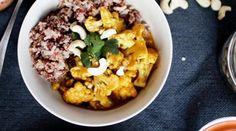 Curry de chou-fleur et mélange de riz rouge