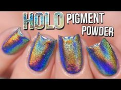 Holo Mirror Chrome Pigment Powder Nails OMG! Gel vs Polish - How to Holo #2 - YouTube