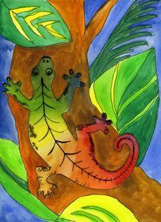 color wheel lizard