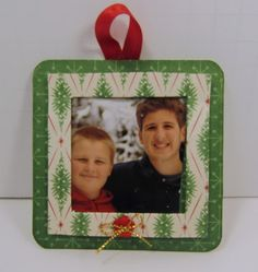 I was cleaning out my craft room and came across some chipboard coasters.  I put this ornament frame together.  I like to include one of th...