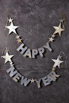 Happy New Year Garland via http://designlovely.tumblr.com
