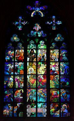 Vidriera Catedral de San Vito - Alphonse Mucha