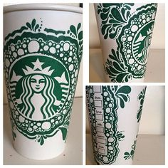 Art by Instagram user @shannonsartnwhimsy. #WhiteCupContest Starbucks Cup Art, Starbucks Coffee, Coffee Love, Coffee Art, Dream Drawing, Diy And Crafts, Arts And Crafts, White Cups, Tea Art