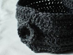 Crochet Neckwarmer in Grey Merino Wool Blend by woodstreamdream