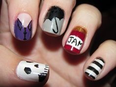 Sherlock (BBC Series) Nail Art Loved this so much I tried it. Got a ton of complements.