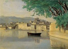 Geneva View of Part of the City - Camille Corot