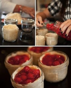 Pie in a jar... So gonna have to make this soon!
