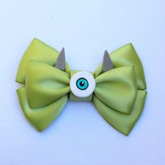 Mike Wazowski Monsters Inc. Inspired Bow by SmallWorldBows on Etsy, $9.00