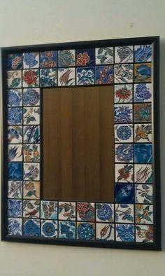 Islamic Tiles, Turkish Tiles, Mirror Mosaic, Oriental Pattern, Glazes For Pottery, Tile Art, Craft Fairs, Ceramic Art, Picture Frames