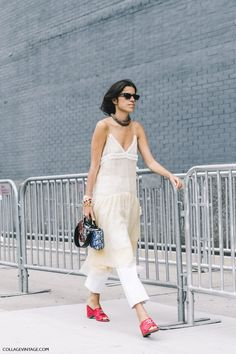 nyfw-new_york_fashion_week_ss17-street_style-outfits-collage_vintage-leandra_medine-man_repeller-dress_over_trousers-chanel_red_mules-lingerie_dress-4