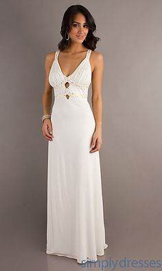 V-neck Floor Length Dress