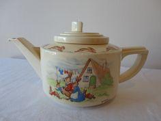 Royal Doulton Bunnykins Teapot Signed Barbara Vernon Collecting Berries | eBay
