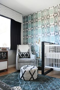 Photography: Kimberly Brooke Photographic - kimberlybrookephotographic.com  Read More: http://www.stylemepretty.com/living/2015/03/17/modern-tribal-nursery-tour/