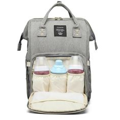 Maternity Waterproof Diaper Bag with USB Charging Best Diaper Backpack, Backpack Bags, Diaper Bags, Baby Bottle Warmer, Free Diapers, Bottle Carrier, Bago, Baby Bottles, Beautiful Bags