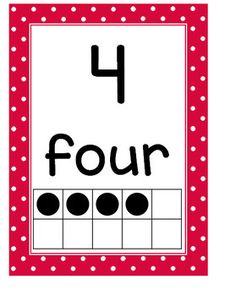 Number Posters with Ten Frames and Flash Cards (Polka Dots) Preschool Math, Kindergarten Classroom, Math Activities, Classroom Decor, Math For Kids, Fun Math, Number Posters Free, Teacher Introduction Letter, Number Flashcards