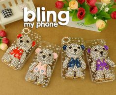 #handmade #iphone #samsung #mobile #phone #cases #phonecases check out http://www.facebook.com/BlingImports Rhinestone/Crystal/Diamond Hard phone Case - this 'Waistcoat Bear' model just £20 and post free (available in 4 colours) - pre-orders yours via our Facebook link above!