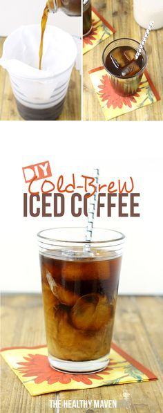 DIY Cold Brew Iced Coffee - start cold-brewing your own coffee for the best iced coffee ever! This easy step-by-step recipe tutorial is easier than you think!